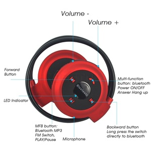 Image 4 - Kebidu Sport Wireless Bluetooth Kopfhörer TF Karte + FM + MP3 Stere Kopfhörer Headsets Hände freies anruf für ios android Telefon