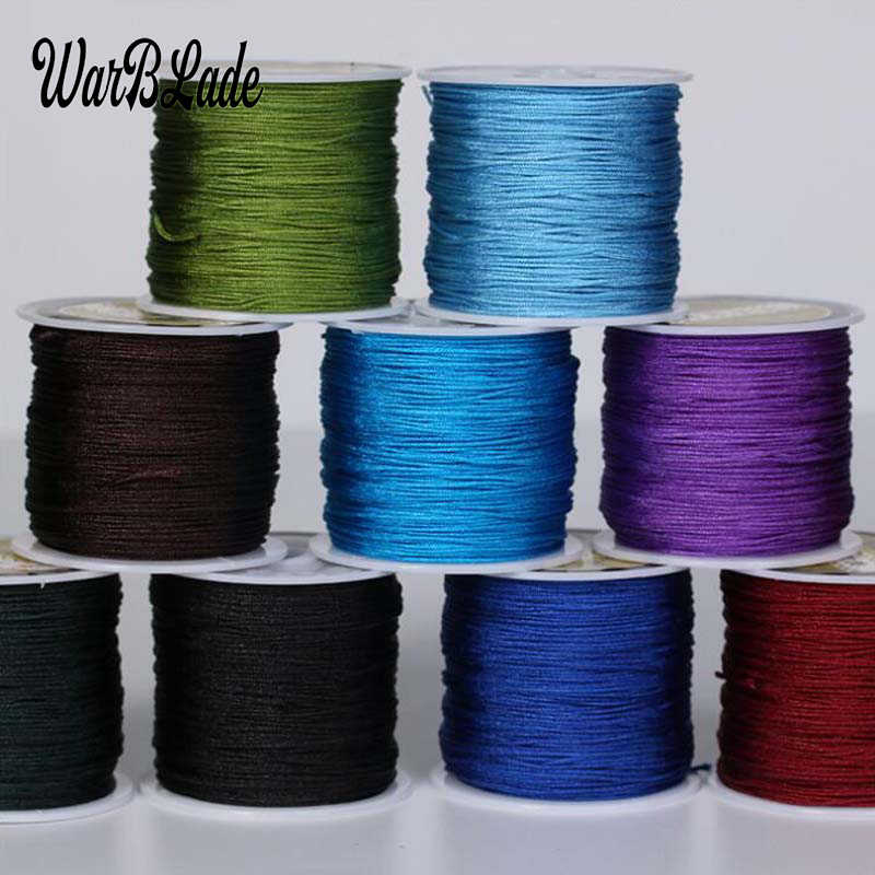 24 Color 100M 0.8mm 1mm 1.5mm 2mm Nylon Cord Cotton Cord  Thread String For Jewelry Making DIY Tassels Beading Braided Bracelet