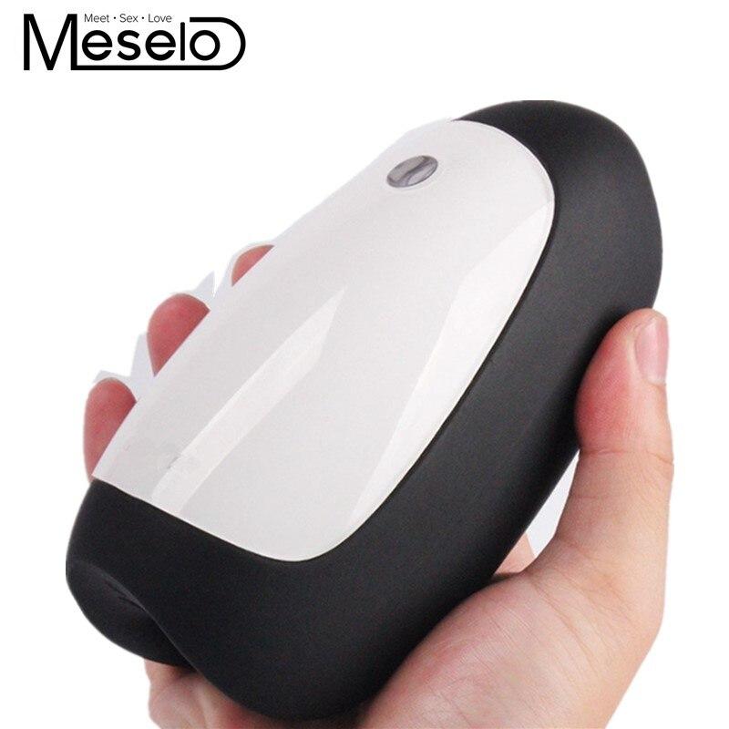 цена на Meselo Electric Pussy Male Masturbation Cup USB Charging Mute Waterproof Delay Penis Training Adult Sex Toys Masturbator For Men