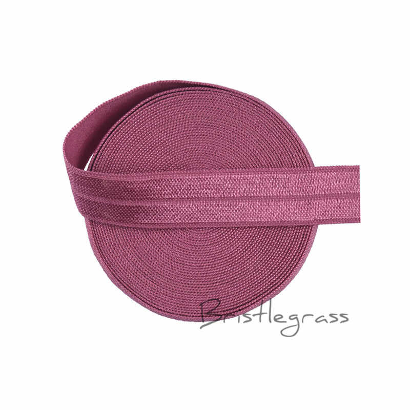 "BRISTLEGRASS 5 Yard 5/8 ""1.5 cm Victoria Rose FOE Foldover Elastics Spandex Satin Kid Hairband Headband Ren Trim Tie DIY May"