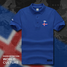 Iceland polo shirts men short sleeve white brands printed for country 2017 cotton nation team flag new ISL Icelander Icelandic