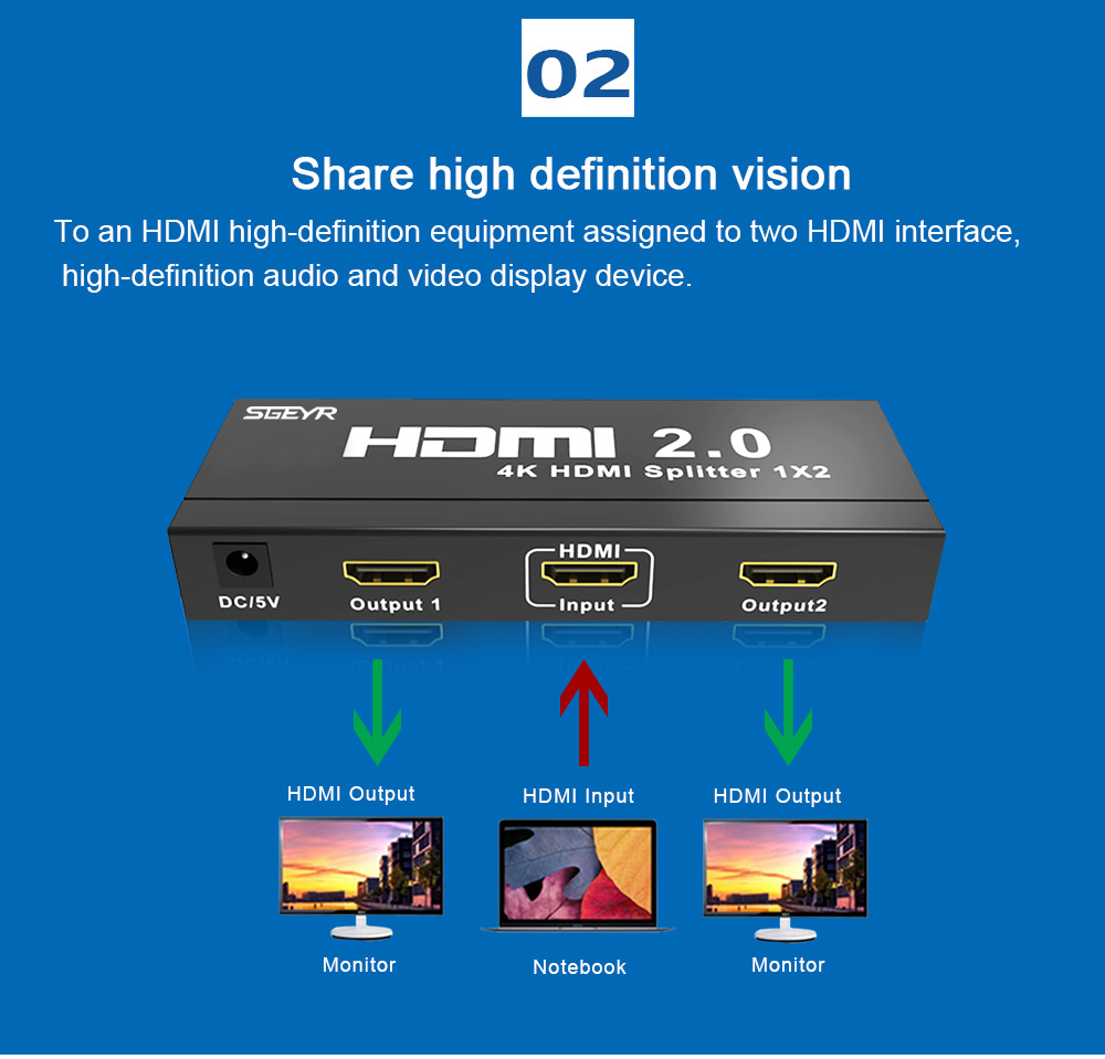 2 port HDMI2.0 splitter (3)