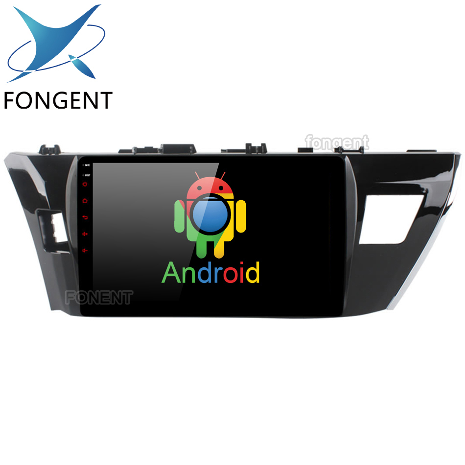 Fongent 10.2 IPS Android Unité GPS Radio CarPlayer pour Toyota Corolla 2014 2015 2016 Auto Stéréo Multimédia Système de Divertissement