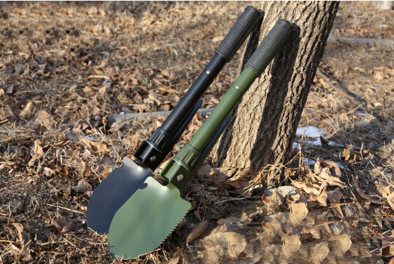EDCGEAR Multi-function Military Portable Folding Camping Shovel Survival Spade Trowel Dibble Pick Emergency Garden Outdoor Tool