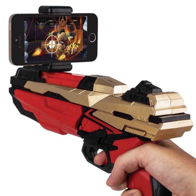 $34.71 2017 Portable Bluetooth AR-Gun Newest style 3D VR Games Wooden Material Toy AR Game Gun for Android iOS iPhone Phones