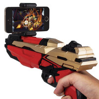 2017 Portable Bluetooth AR-Gun Newest style 3D VR Games Wooden Material Toy AR Game Gun for Android iOS iPhone Phones