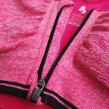 Women Sports Bra Zipper Front Padded Push Up Shockproof