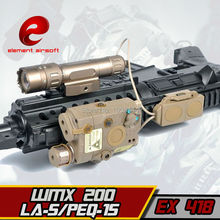 EX418 Element Airsoft LED light Tactical kit includes LA-5/PEQ-15 & WMX-200 Flashlight &Double Remote Control Fits For 20mm Rail