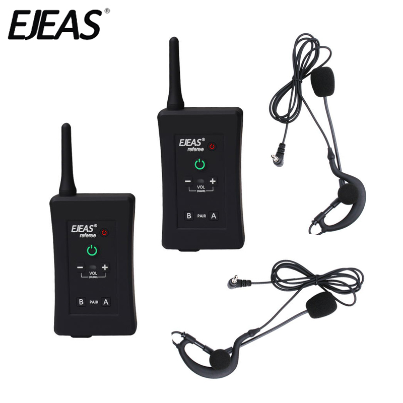 EJEAS Intercom Headset Bluetooth FBIM Fm-Radio Handsfree Full-Duplex 4-Riders 1200M Wireless