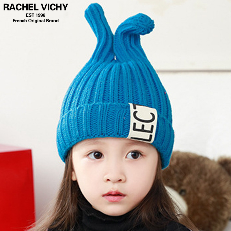 a7a70f13e8b Fashion Cute Ages 2-8 baby hat Children Winter Hats For Girls Boy Cotton  Thick Warm Knitted Ears Beanie Double ball ...