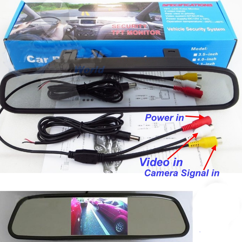 3 in1 Special Rear View Camera + Wireless Receiver + Mirror Monitor DIY Parking System For Renault Megane II III 2 3 wireless pager system 433 92mhz wireless restaurant table buzzer with monitor and watch receiver 3 display 42 call button