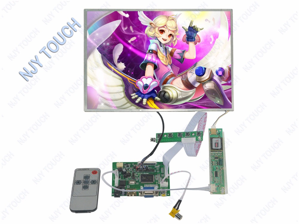 HDMI VGA AV LCD Controller Board Kit Plus 12.1inch N121X5 1024x768 LCD Screen Panel new 3 5 tft pd035vx2 640x480 lcd screen vga av lcd controller board kit for projection