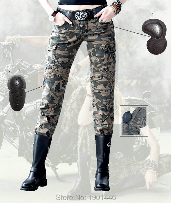 Free shipping motorcycle motorpool-camo Pants for women daily riding protection super fit jeans Female motorcyclist trousers free shipping 1pcs motorcycle biker distressed pants denim trousers protection pads