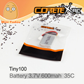 Minitudou CoretexRc Tiny100 Batería Nuevo Micro Racing Drone Quadcopter FPV