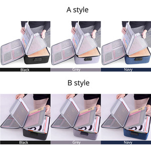 Image 4 - Large Capacity Document File Bag Case Waterproof Document Bag Organizer Papers Storage Pouch Credential Bag Diploma Storage File