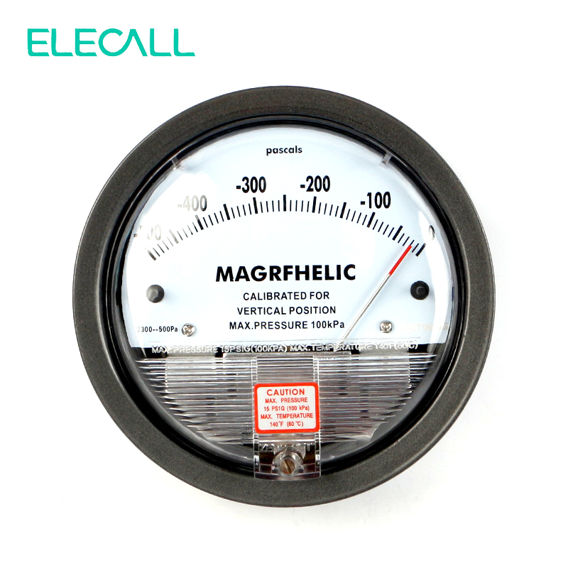 ELECALL Best Sale TE2000 -500PA-0 Micro Differential Pressure Gauge High Precision 1/8 NPT Air Pressure Meter Barometer te2000 500pa 500pa micro differential pressure gauge high