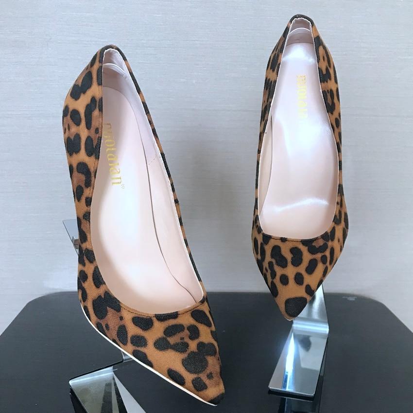 e4c1f6547ac US $29.86 68% OFF|8 10 12CM Women Leopard Pumps Pointed Toe Shoe Woman Faux  Suede High Heels Ladies High Heel Pump Shoes Lady Party High Heels-in ...