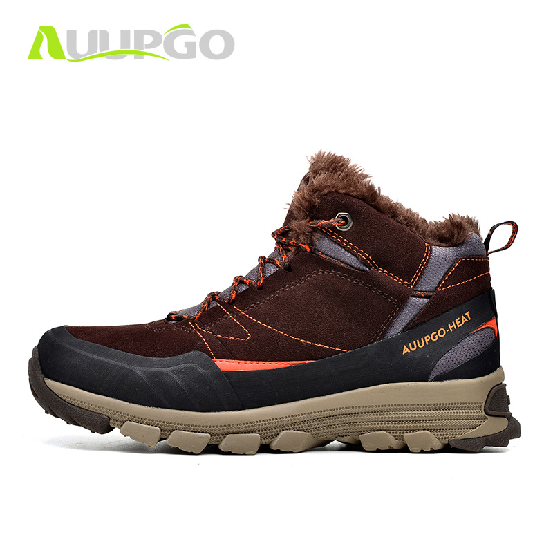 Waterproof Hiking Shoes For Men Winter Outdoor Sports Sneakers Hiking Boots Breathable Thermal Fleece Snow Boot For Men