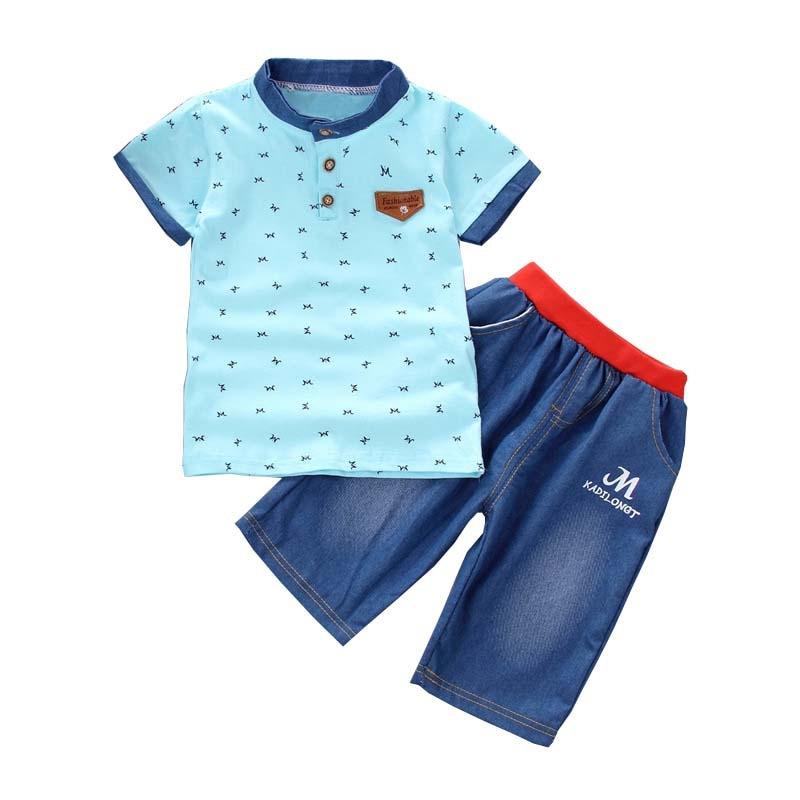 bc31bebce07eb BibiCola bébé garçons vêtements d été ensembles nouveau-né bébé décontracté  t-shirt