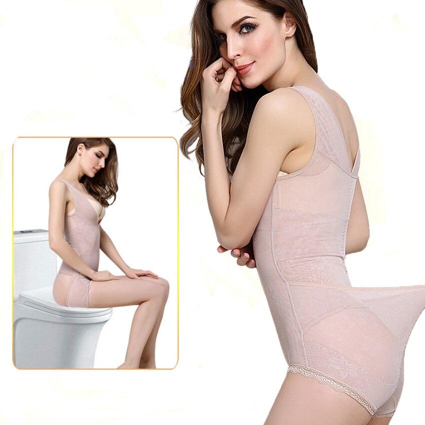 Hot Sale Breathable Slimming Underwear Bodysuits Women Waist Tighten Slimming Belt Body Shaper Corset Sexy Lace Shapewear