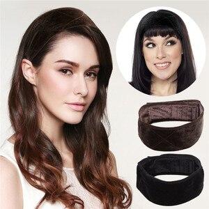 Image 1 - 12 ชิ้น/ล็อตขายส่งแฟชั่นผู้หญิงวิกผมกำมะหยี่ Grip Headband ปรับได้หัวผมวงดนตรีหญิงโยคะกีฬาเหงื่อวง Headband