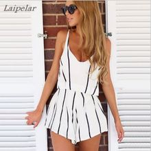2018 Summer Hot 2 Piece Set Women Tops V Neck Strap Striped Chiffon Tee Shirt Boho Beachwear Sexy Tank Top Shorts Laipelar