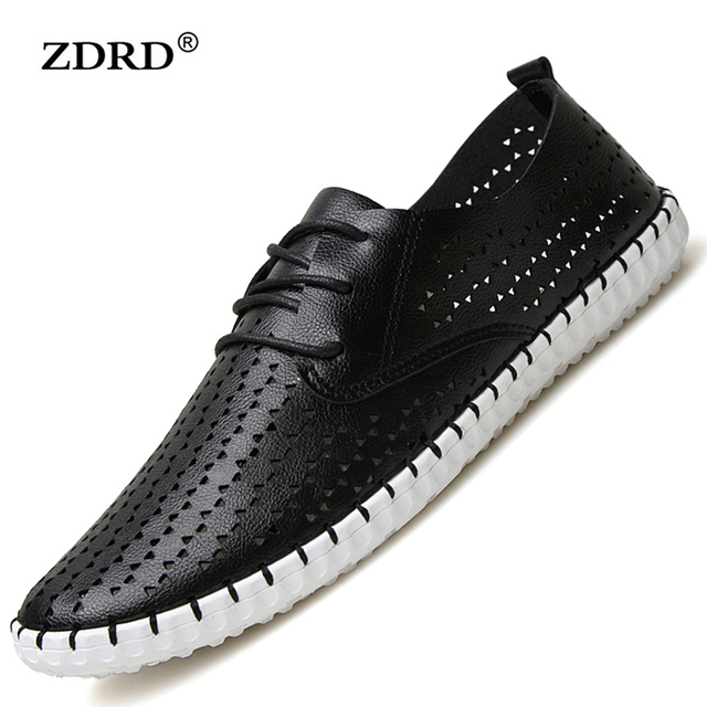 2016 Summer Simple Style Genuine Soft Moccasins Men Loafers High Quality Comfortable Shoes Men's Flats Gommino Driving Shoes