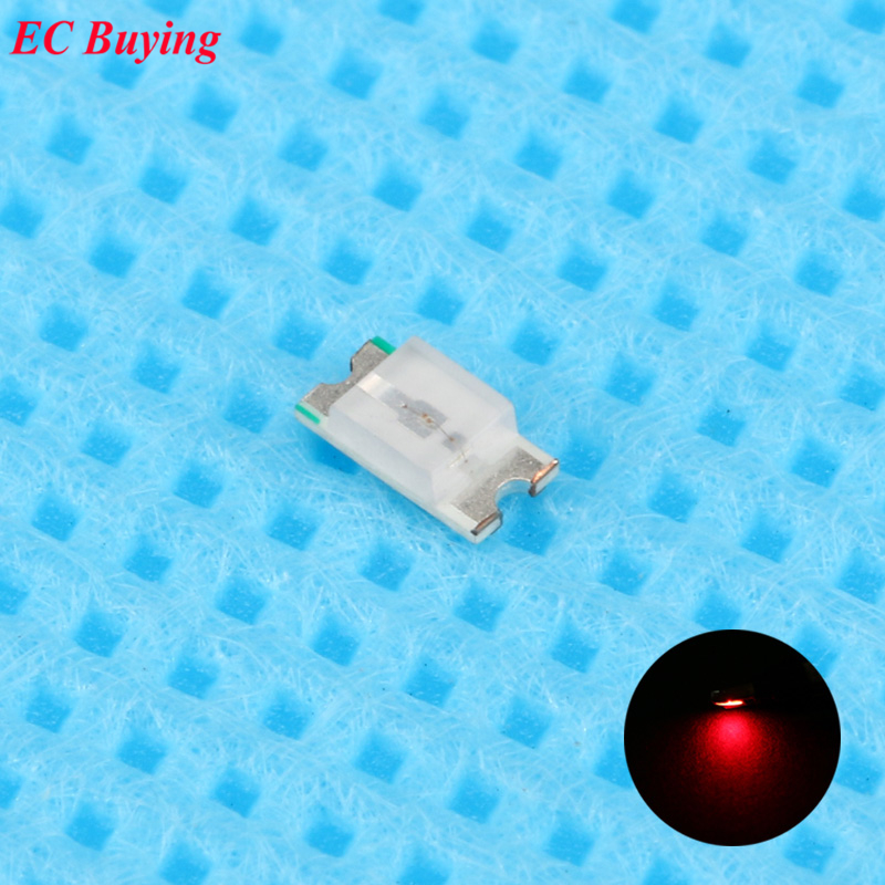 500pcs 0603 (<font><b>1608</b></font>) Red <font><b>LED</b></font> <font><b>SMD</b></font> Chip Bulb Lamp Surface Mount SMT Bead Ultra Bright Light Emitting Diode <font><b>LED</b></font> DIY Practice Hight image