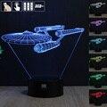 Star Trek a Luz Da Noite 3D RGB Mutável Lâmpada de Humor e LEVOU Luz dc 5 v usb candeeiro de mesa decorativo obter um free controle remoto