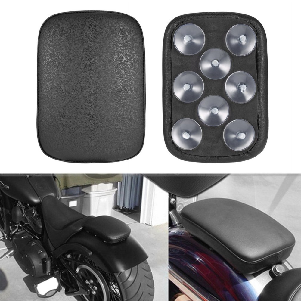Lightweight Durable Motorcycle Accessories Rectangular Pillion Passenger PAD Seat 8 Suction CUP For Harley Custom Chopper NEW