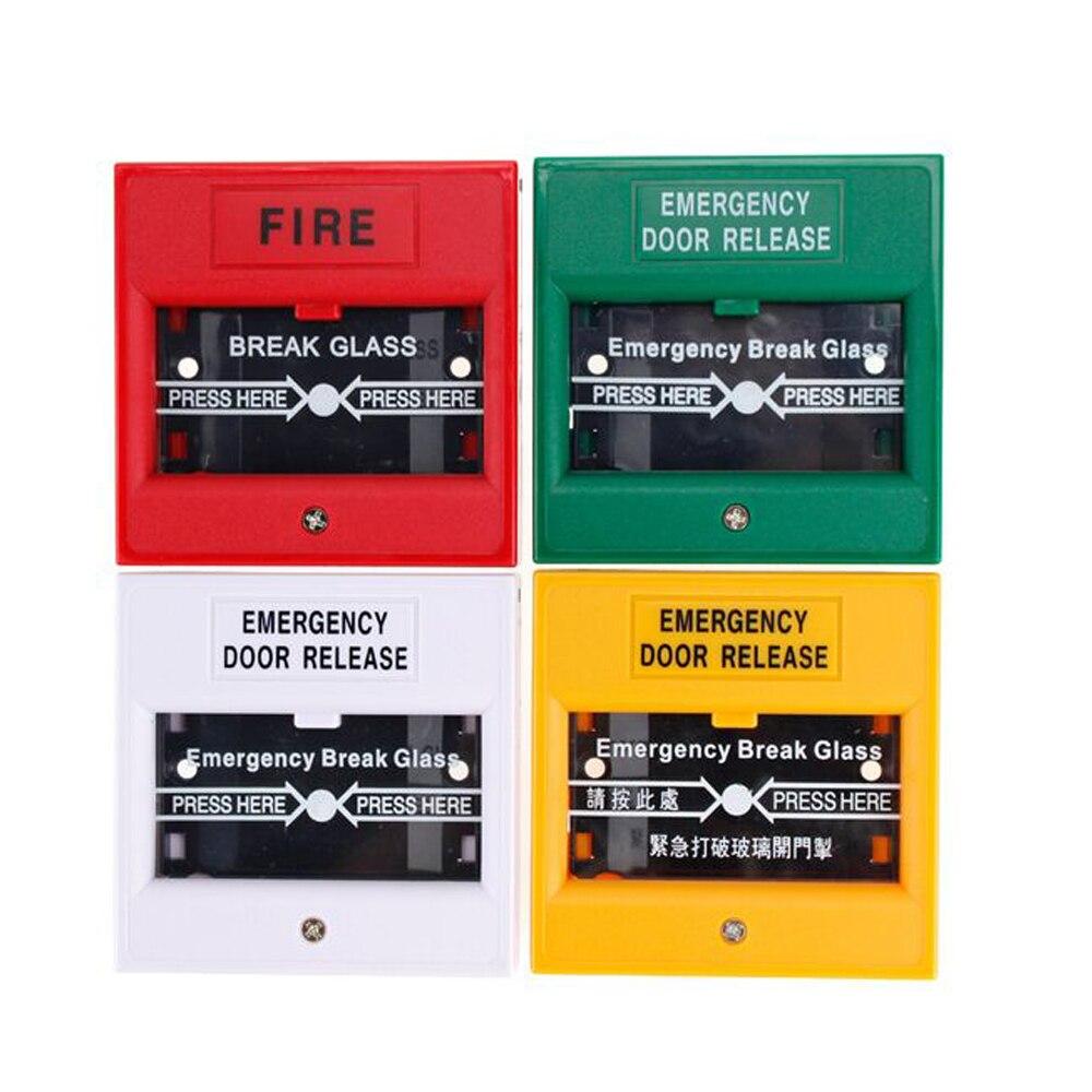 4pcs Emergency Door Release Glass Break Alarm Button Fire Alarm Swtich Break Glass Fire Emergency Exit Release