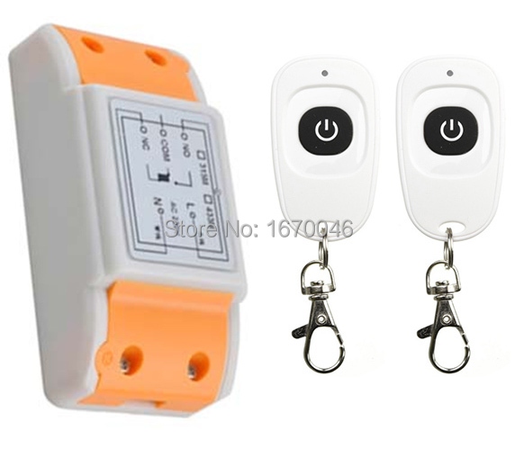 latest AC220V 1CH Wireless Remote Control Switch System Receiver &2pcs one-button waterproof Remote 315mhz/433mhz wireless pager system 433 92mhz wireless restaurant table buzzer with monitor and watch receiver 3 display 42 call button