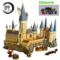 Новый Гарри Магия Хогвартс замок fit legoings Гарри Поттер замок город строительные блоки кирпичи малыш 71043 diy Развивающие игрушки подарок