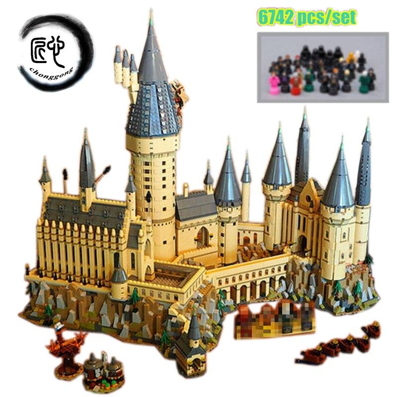 Nuevo Harry magia de Hogwarts Castillo ajuste legoings de harry potter Harry potter Castillo de la ciudad de bloques de construcción ladrillos chico 71043 diy juguetes educativos regalo