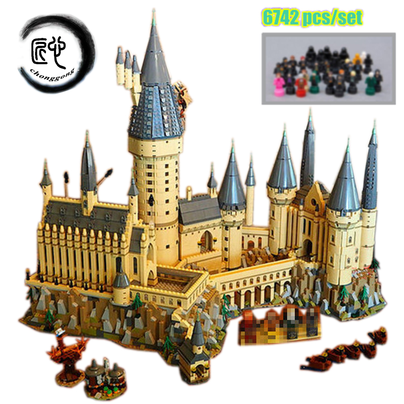 Nuovo Harry Magia Hogwarts Castello fit legoings harry potter castello città Building Blocks Mattoni Del Capretto 71043 fai da te Giocattoli Educativi Regalo
