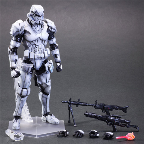 Huong Movie Figure 26 CM PlayArts KAI Star Wars Stormtrooper PVC Action Figure Collectible Model Toy huong movie figure 26 cm playarts kai star wars darth maul pvc action figure collectible model toy