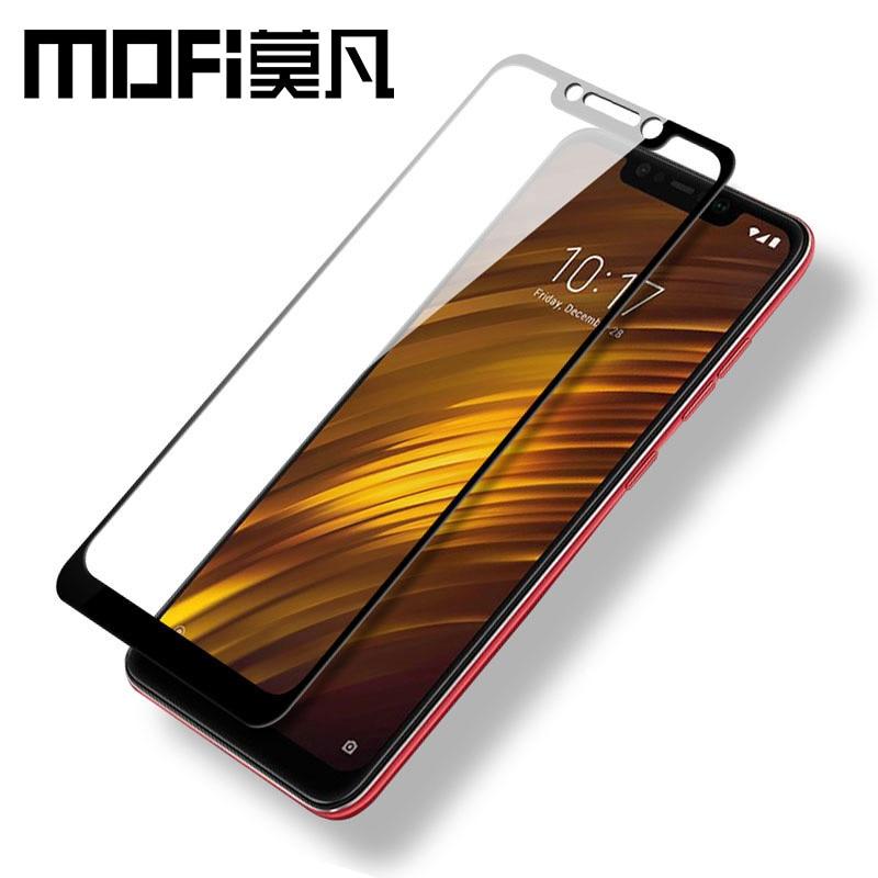 Xiaomi POCOPHONE F1 glass tempered full cover MOFi original POCOPHONE F1 screen protector front film protection POCO F1 glass