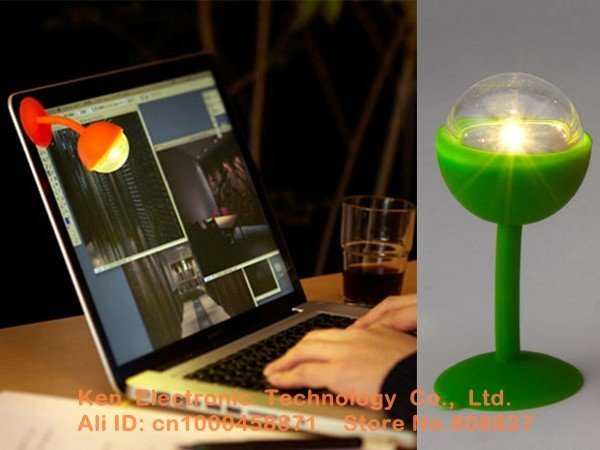 10pcs LED Sucker Light Keyboard Floodlight Novelty Night Lights Ball-Shaped Lamp Free shipping EMS