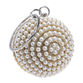 Women's Pearl Beaded Evening Bags Factory Selling Pearl Beads Clutch Bags Handmake Wedding Bags Beige, Black Quality Assurance