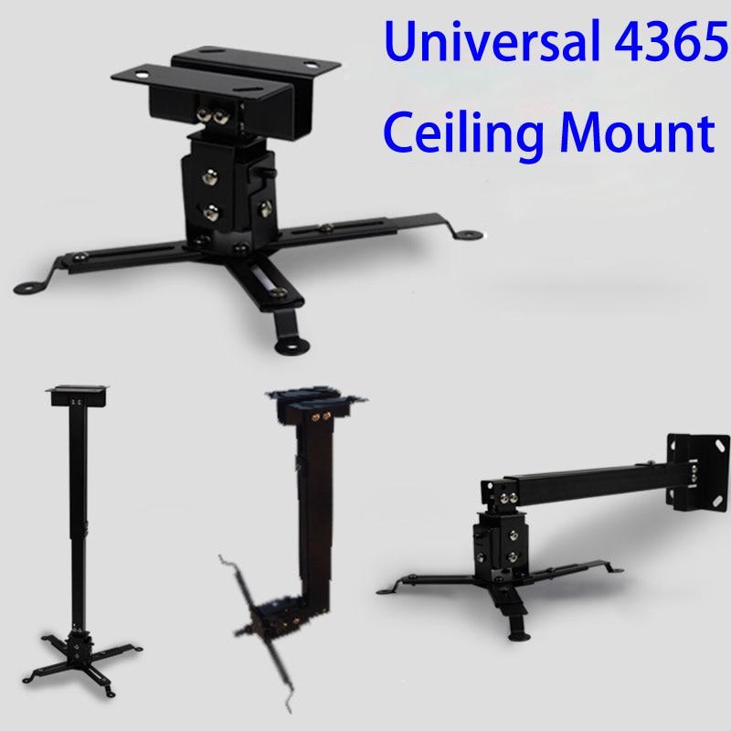 Black Color Projector Ceiling Mount Adjustable 43 To 65cm Roof Bracket For DLP LCD LED Beamer Wall Hanger