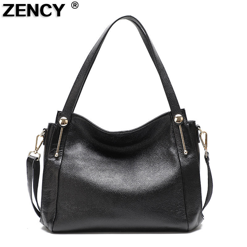 2018 Genuine Leather Women Shoulder Bag Messenger Tote Handbag Ladies Casual Real Cowhide Large Fashion Designer Shopping Bags women crocodile pattern handbag fashion casual tote large shoulder bags ladies brand genuine leather shopping bag gift hand bag