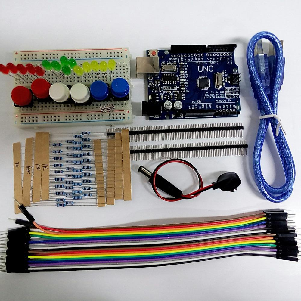 Starter kit uno r mini breadboard led jumper wire button