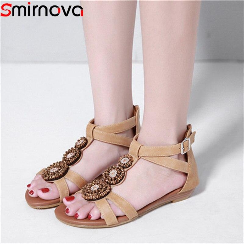 674925460d 42 Talla Mujeres Nuevo De Mujer Apricot negro 35 Sandalias Bajo Cuñas Moda  Zip Zapatos Tacones ...