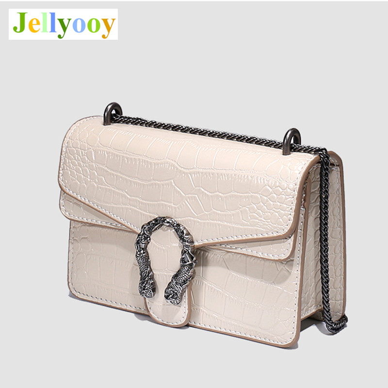 Luxury Fashion Ladies Chain Shoulder Messenger Bags High Quality Alligator Women Leather Handbags Famous Design gg Crossbody Bag цены онлайн