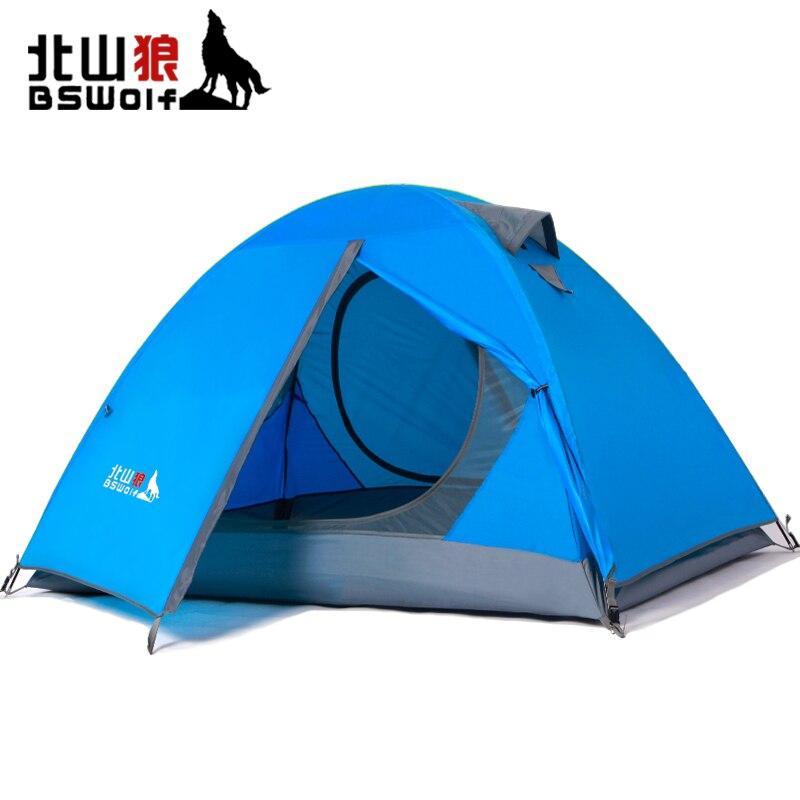BSWolf Ultra-Léger Pliage Plage Tente 2 Personne Tente Imperméable À L'eau En Plein Air Camping Randonnée Anti-UV Pare-Soleil De Pêche Touristique Tente