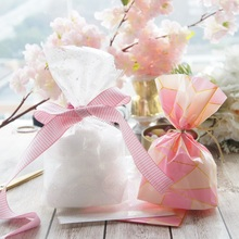 25*15cm 10pcs white lace pink line Style Gift bag as wedding party birthday gift packaging Decoration Plastic keeper
