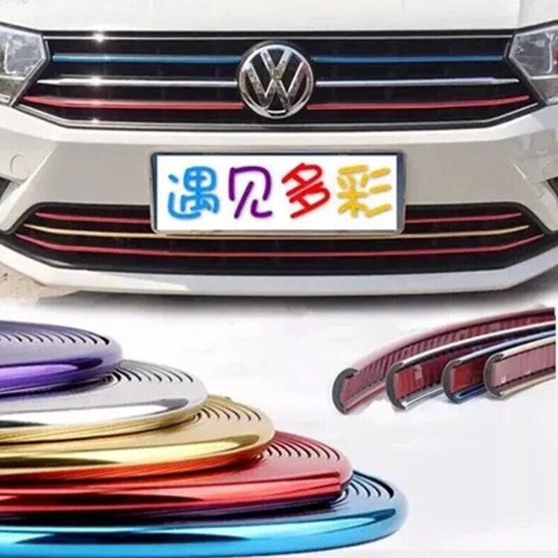 1M Automobile net protection decorative adhesive strip for AUDI S line A4 A3 A6 C5 Q7 A1 A5 TT A8 Q3 A7 R8 RS B6 Car-Accessories