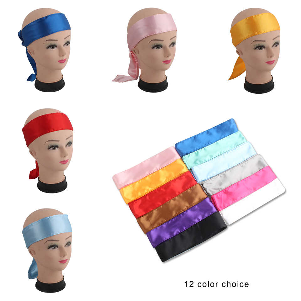 6X110cm Women Virgin Hair extensions bundle wrapping satin head tie band,human virgin hair wrap Forehead band,head scraf wraps