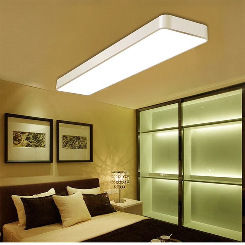 Moderne led-deckenleuchte dimmbar licht 24 watt 36 watt AC110 * 240 v schlafzimmer Büro Studie lampe quadratische weiße warm weiß natürliche licht