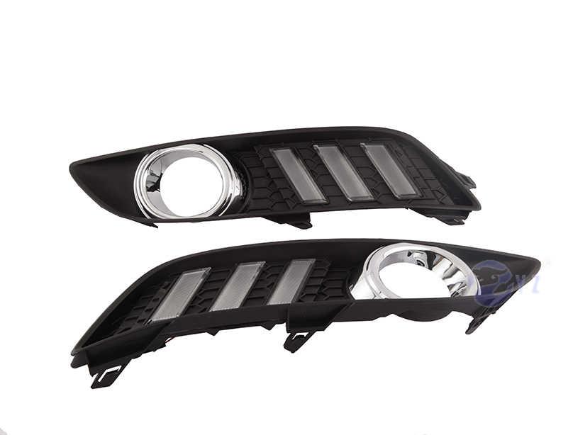 Автомобильный мигающий 1 комплект drl для Nissan Sylphy sentra 2013 2014 2015 светодиодный DRL дневные ходовые огни дневного света противотуманная фара